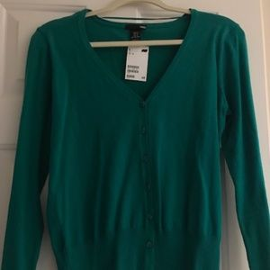 NWT - H&M Green Cardigan Size M